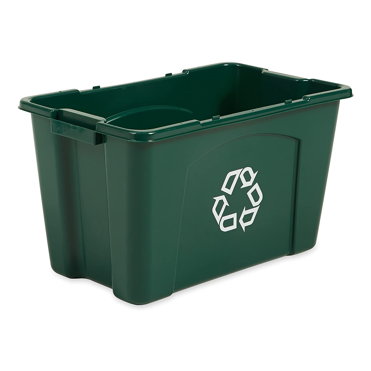 Rubbermaid Commercial FG571873GRN Stackable Recycling Box, 18-gallon, Green Rubbermaid Commercial Products