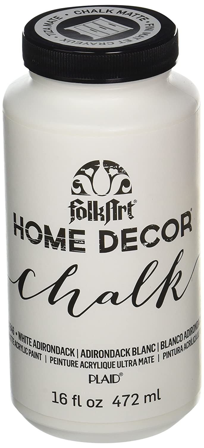 FolkArt Home Decor Chalk Furniture & Craft Paint in Assorted Colors, 16 oz, 34877 Tuscan Red Plaid Inc.