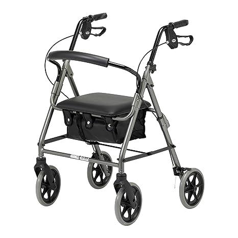 Days - Andador plegable de cuatro ruedas con asiento ...