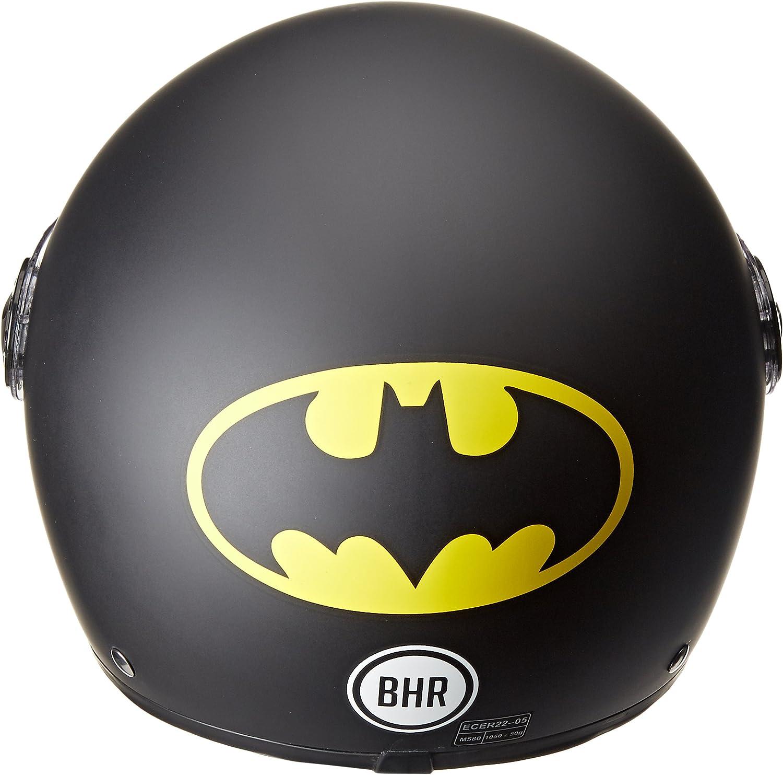 57//58/cm Batman Schwarz BHR 18946/Helm Demi-Jet One 801 Gr/ö/ße M Gr/ö/ße M