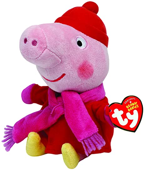"Peppa Pig Ty 6"" Plush - Peppa Pig Winter"