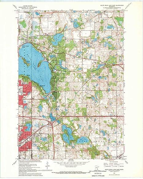 Amazon.com : YellowMaps White Bear Lake East MN topo map, 1 ...