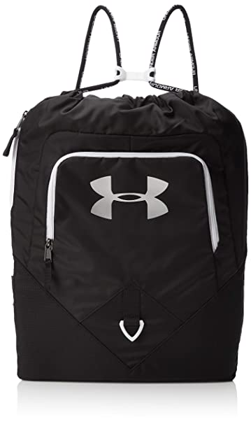 8d5783cf370 Under Armour Undeniable Sackpack, Black (001)/Silver, One Size