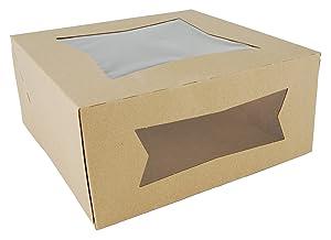 Southern Champion Tray 24293K Kraft Paperboard Window Bakery Box, 9