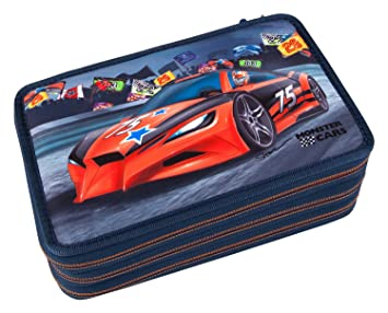 Monster Cars 8218 - Estuche Escolar con 3 Compartimentos ...