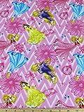 Disney Princess Chevron Toss Fabric by the Yard
