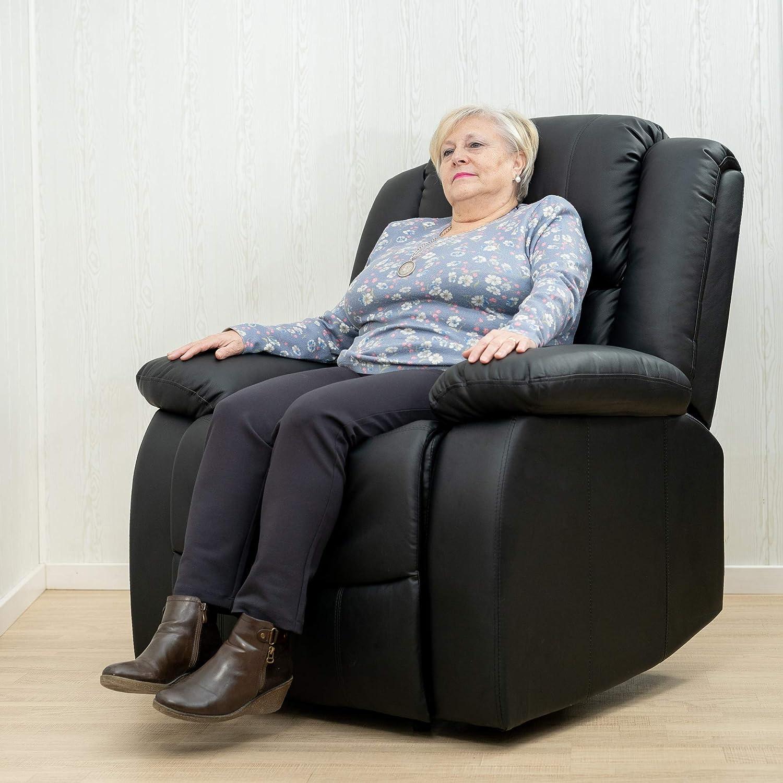 colore marrone cioccolato ECO-DE Poltrona massaggiante MAXIMUM Poltrona relax massaggio massimo 8 motori a vibrazione massima calore lombare di alta qualit/à reclinabile