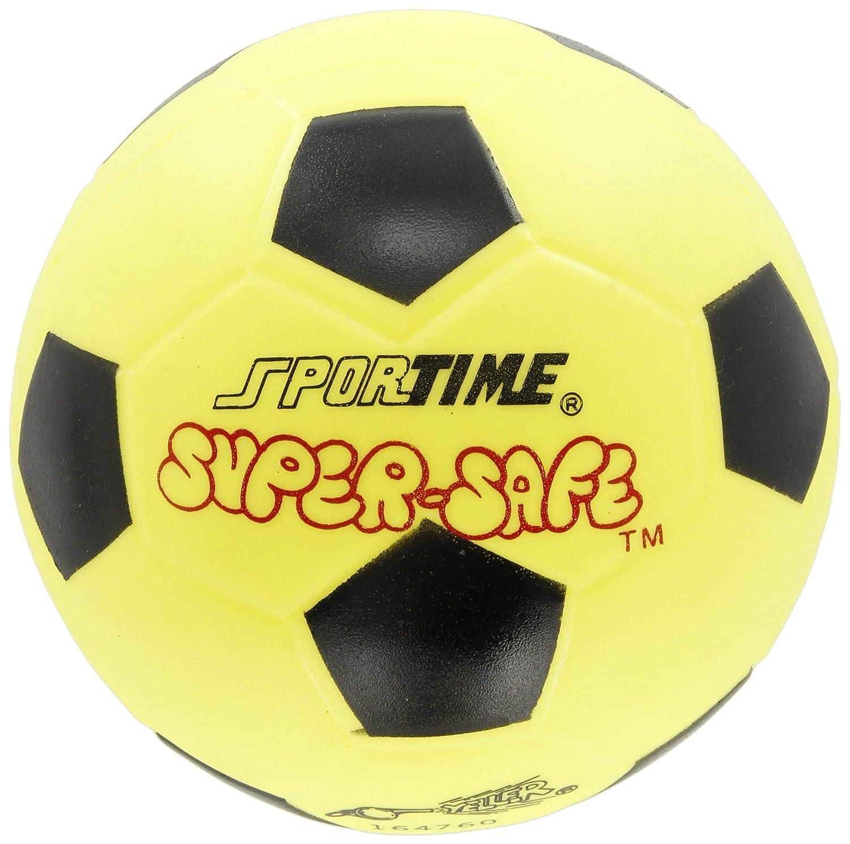 Sportime Super-Safe - Balón de fútbol (15,2 cm), color amarillo ...