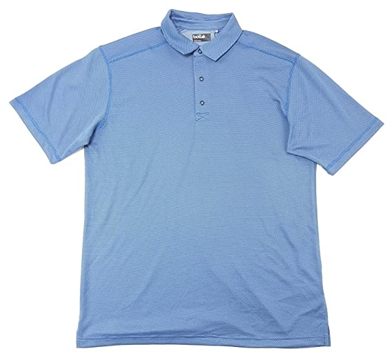 510a4388 Bolle Mens Golf 3 Button Moisture Wicking Performance Polo Golf Shirt at  Amazon Men's Clothing store:
