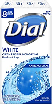 8-Pack Dial Antibacterial Deodorant Soap Bars, 4 Ounce