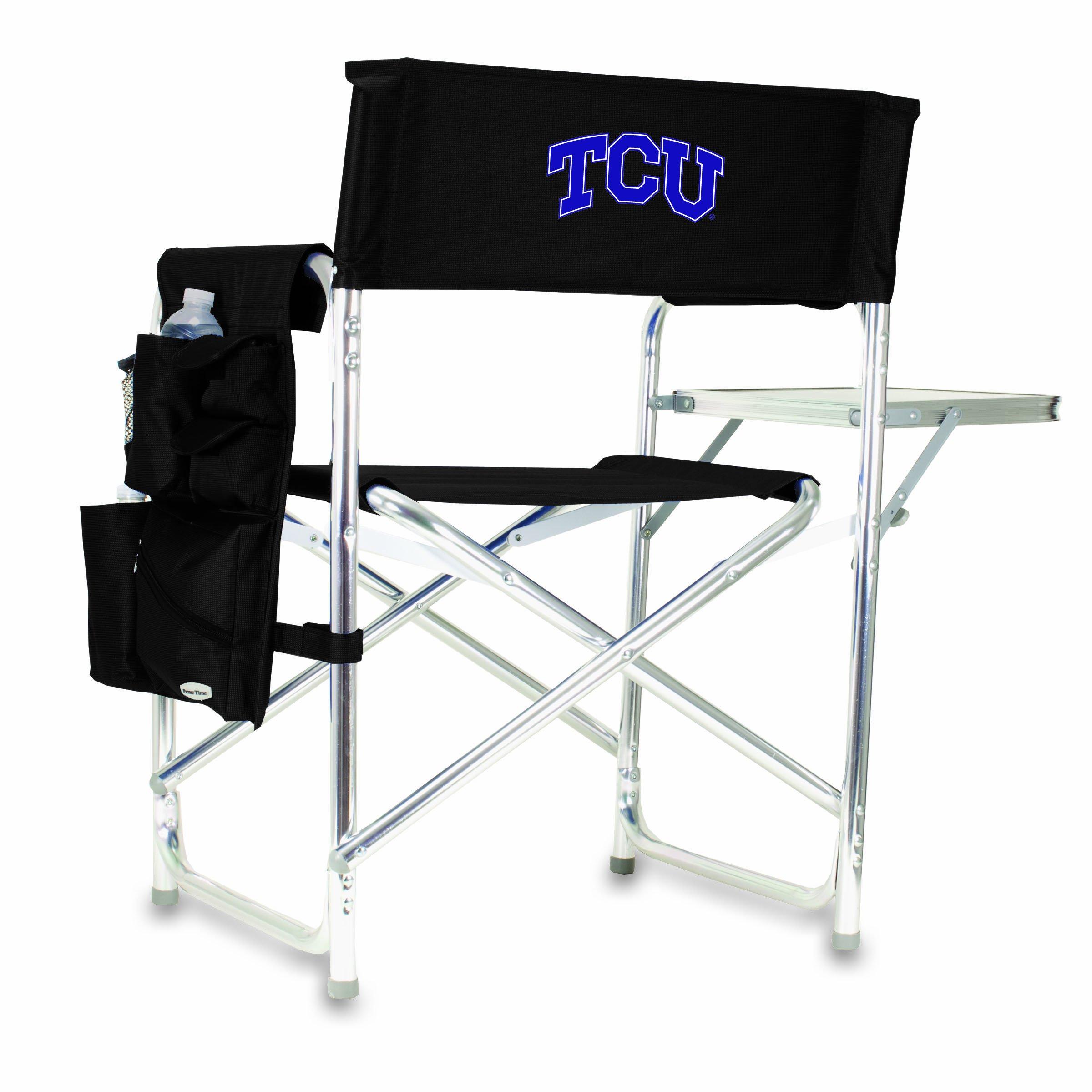 NCAA Texas Christian Horned Frogs Portable Folding Sports Chair (Black)