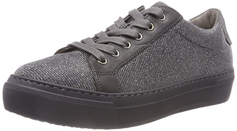 gris (plata Kombi 69) Gabor zapatos Gabor Casual, Hauszapatos para mujer
