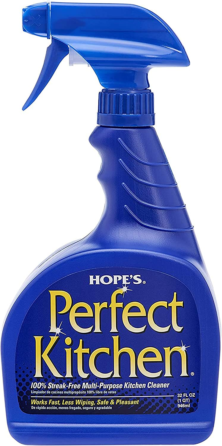 Hope's Perfect Kitchen Cleaner, 32-Ounce, Multi-Purpose Kitchen Cleaning Spray, No-Residue Formula, Cuts Through Grease, Fast Cleanup, Safe for Home Use