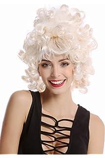 WIG ME UP ® - 90960-ZA62/ZA612 Peluca mujer Carnaval Halloween Rococó Barroco