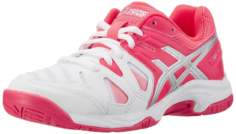 Asics C502Y0120, Zapatillas de Tenis Unisex niños, Blanco (White/Diva Pink/Silver), 38 EU