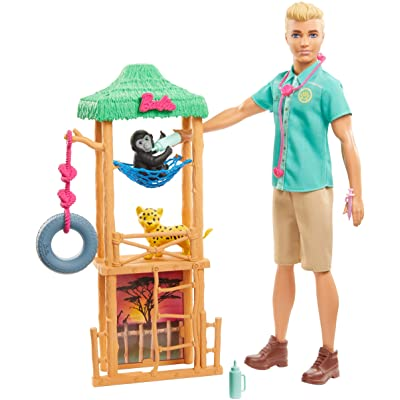 Barbie Ken Wildlife Vet Playset with Doll and Accessories: Toys & Games