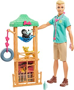 Barbie Ken Wildlife Vet Playset with Doll and Accessories