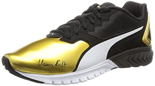 Puma Men s Ignite Dual Bolt Black and Gold Running Shoes - 10 UK India ( f49adf2e1