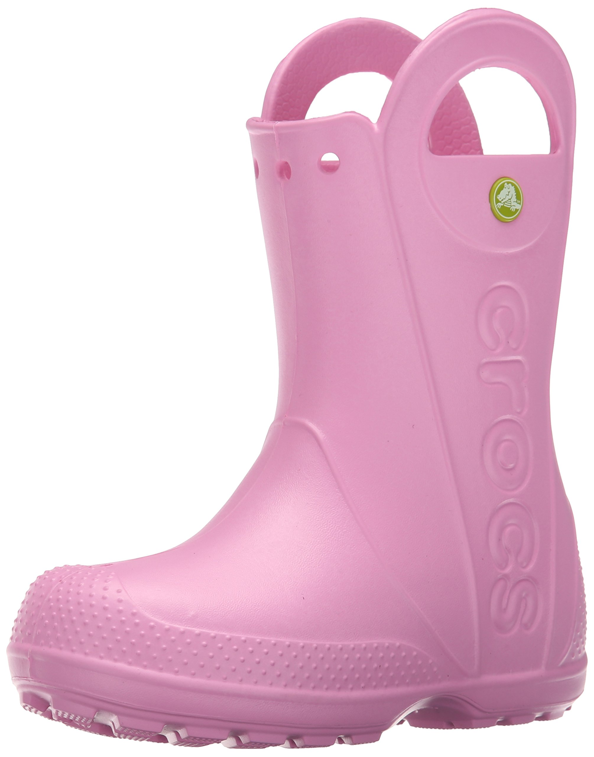 Crocs Kids' Handle It Rain Boots, Easy On for Toddlers, Boys, Girls, Lightweight and Waterproof, Carnation, 1 M US Little Kids