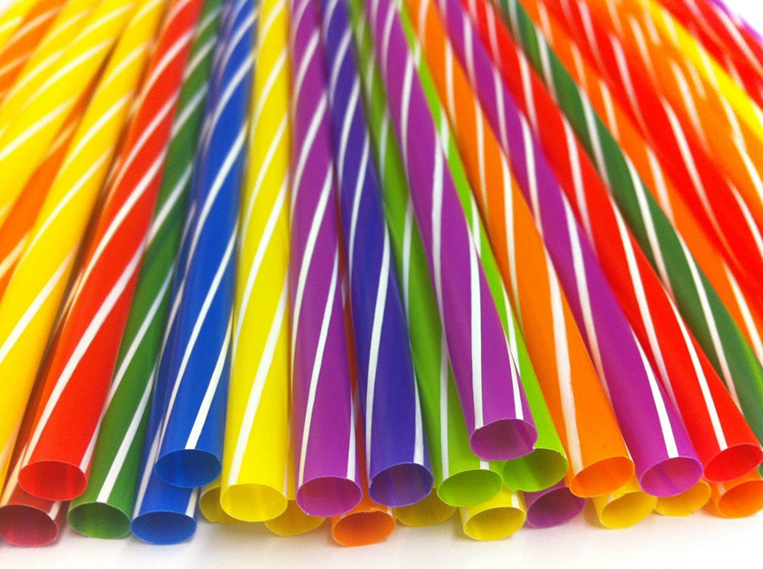 RAYANDIRECT 80 PCS MULTICOLOUR MILKSHAKE JUMBO SMOOTHIE THICK DRINK DRINKING STRAW PARTY BAR