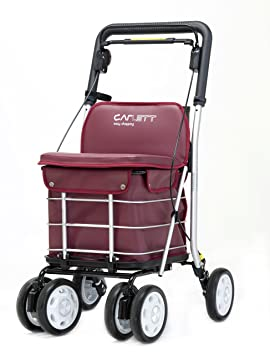 Carlett Lett 460 Carro de Compras, Aluminio, Rojo, 91 X 49 X 50 cm: Amazon.es: Hogar