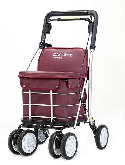 Carlett Lett 460 Carro de Compras, Aluminio, Rojo, 91 X 49 X 50