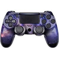 eXtremeRate Hydro Dipped Front Housing Shell Case, Faceplate Cover Replacement Kit for Playstation 4 PS4 Slim PS4 Pro Controller (CUH-ZCT2 JDM-040 JDM-050 JDM-055) (Nubula Galaxy)