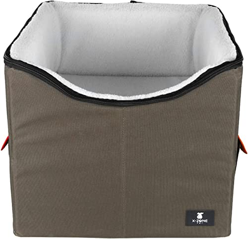X-ZONE PET Dog Booster Car Seat Pet Bed at Home, with Pockets and Carrying case Easy Storage and Portable