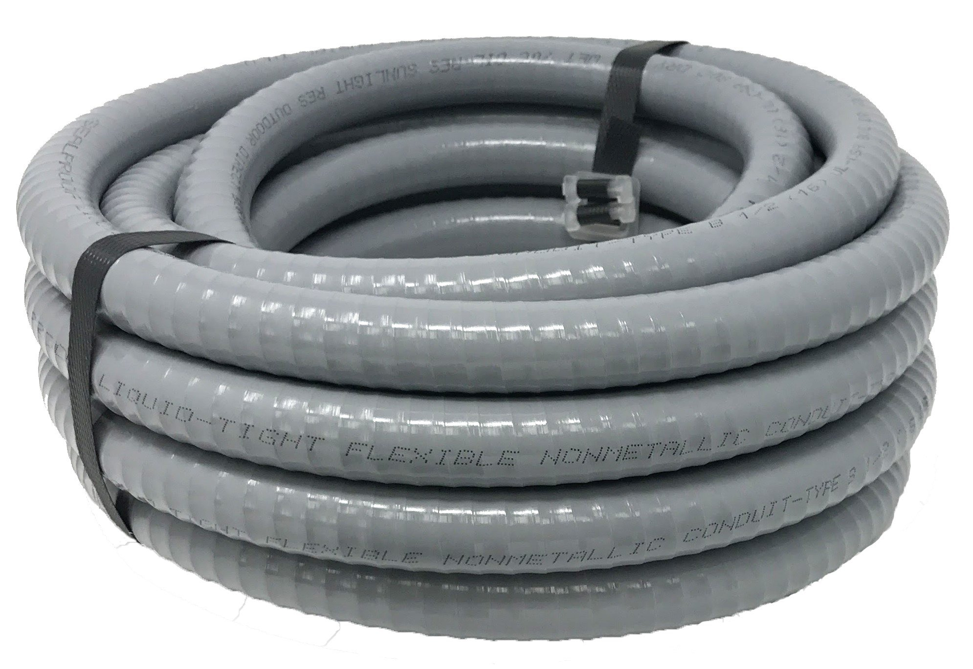 Sealproof 1/2-Inch Flexible Nonmetallic Liquid-Tight Electrical Conduit Type B, UL Listed, 1/2'' Dia, 25 Feet