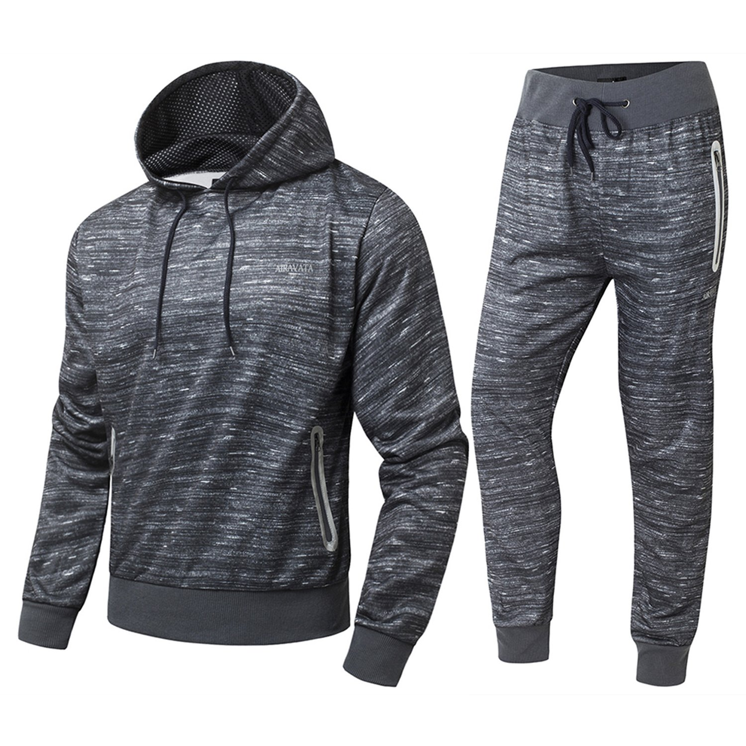 FZDX Men's Jogging Full Tracksuit Pullover Camouflage Hoodies Fleece Joggers Set DX3021-5008