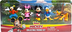Disney Junior Mickey Mouse Collectible Friends Set - 5 Figures Including Mickey, Minnie, Donald, Goofy, and Pluto
