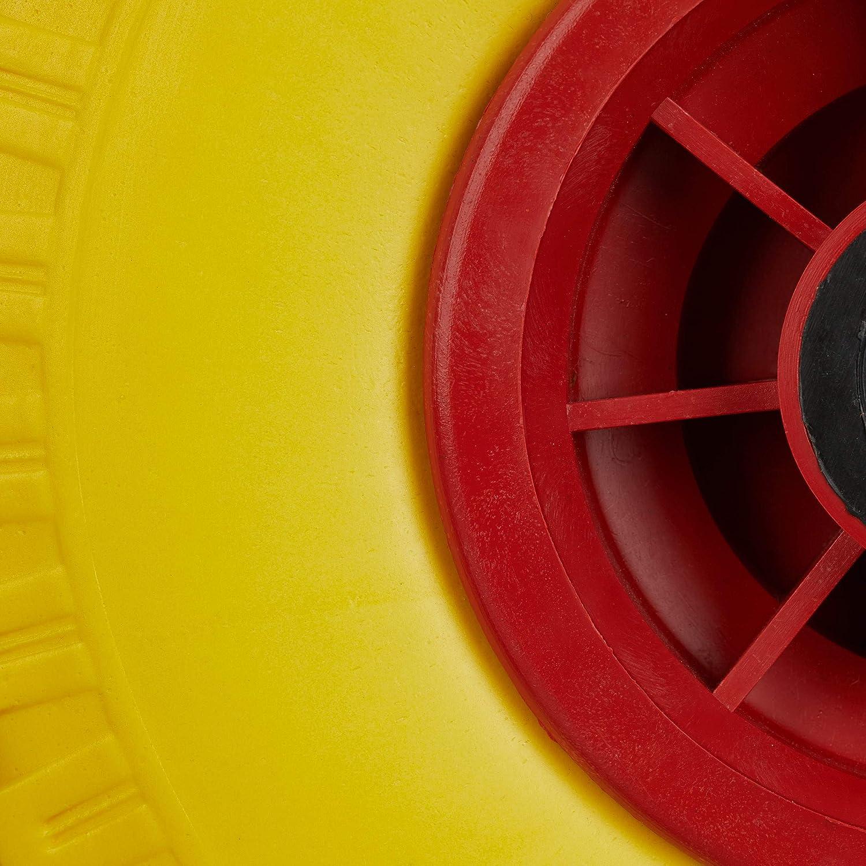 260x85mm Pneumatici di Gomma Piena Antipanne Nero-Grigio ASSE 25mm relaxdays Set di 2 Ruote per Carriola Max.150 kg