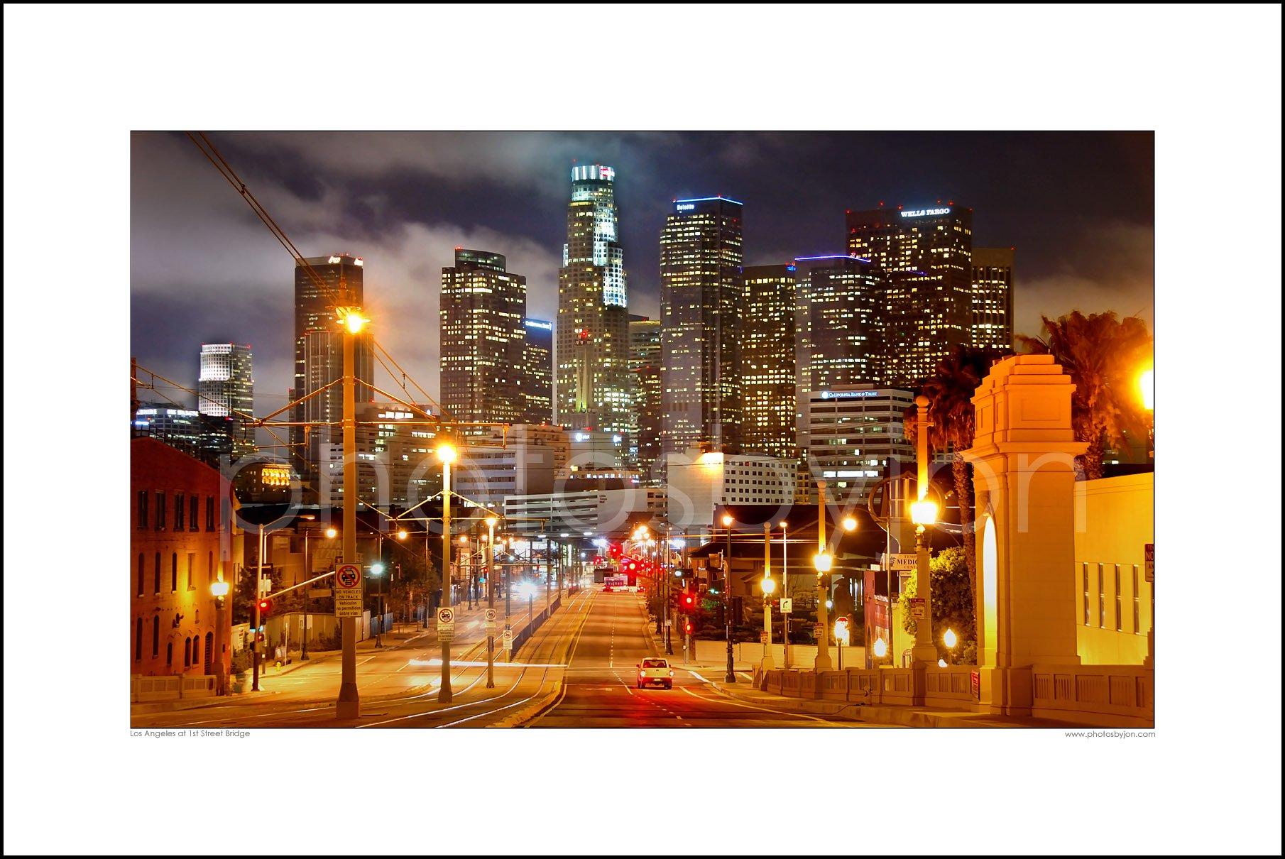 Los Angeles Skyline NIGHT View from East LA CHOOSE FROM TWO SIZES Photographic Panorama Poster Print Photo Picture Standard Frame Size by photosbyjon