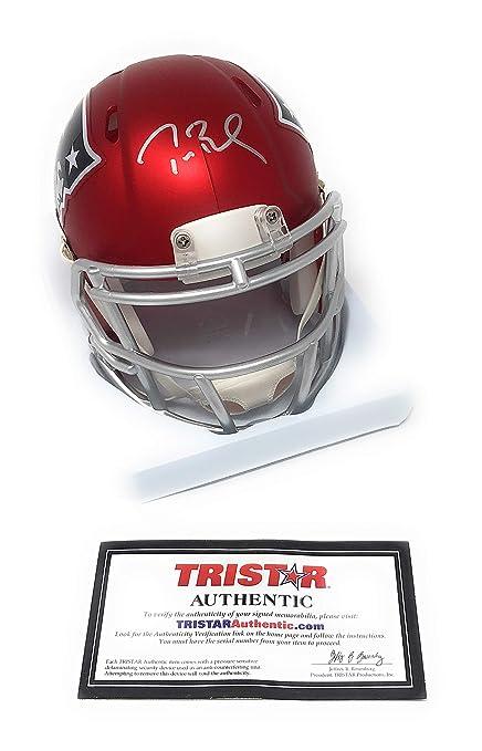 15cd27171 Tom Brady New England Patriots Signed Autograph Speed BLAZE Mini Helmet  Tristar Authentic Certified