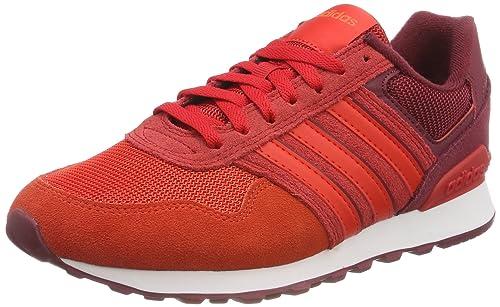 Adidas 10K, Zapatillas de Deporte para Hombre, Rojo (Buruni
