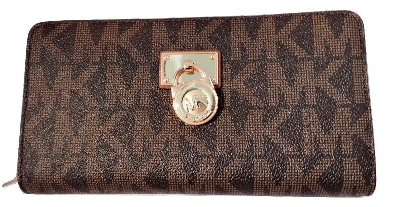 Michael Kors Hamilton Traveler Large Zip Around Cluch Wallet