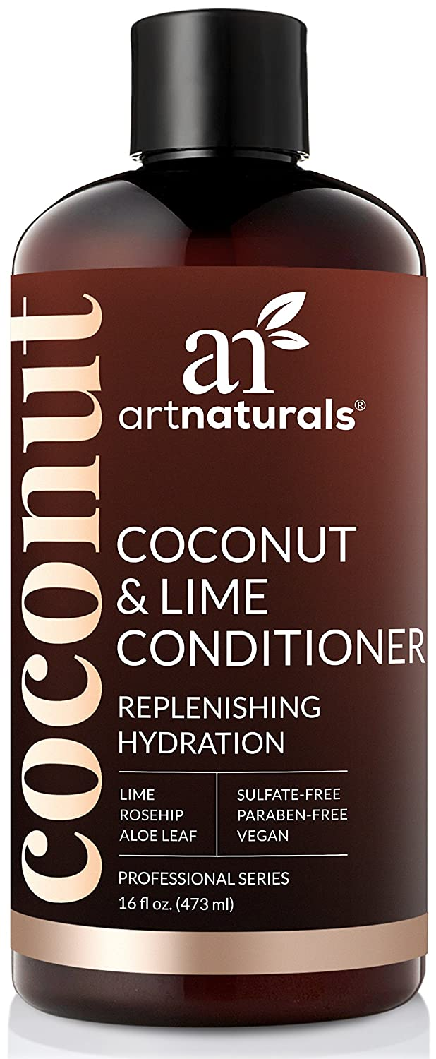 ArtNaturals Coconut and Lime Daily Conditioner – (16 Fl Oz / 473ml) – Replenishing Hydration – Deep Moisturizing For All Hair Types – Sulfate-Free and Vegan – Coconut, Lime, Aloe Vera and Rosehip