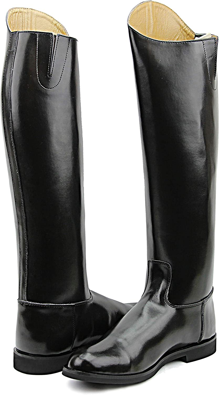 HisparメンズMan DecentドレスDressageブーツwithout zipper英語Riding Equestrian ブラック 12 Wide Calf