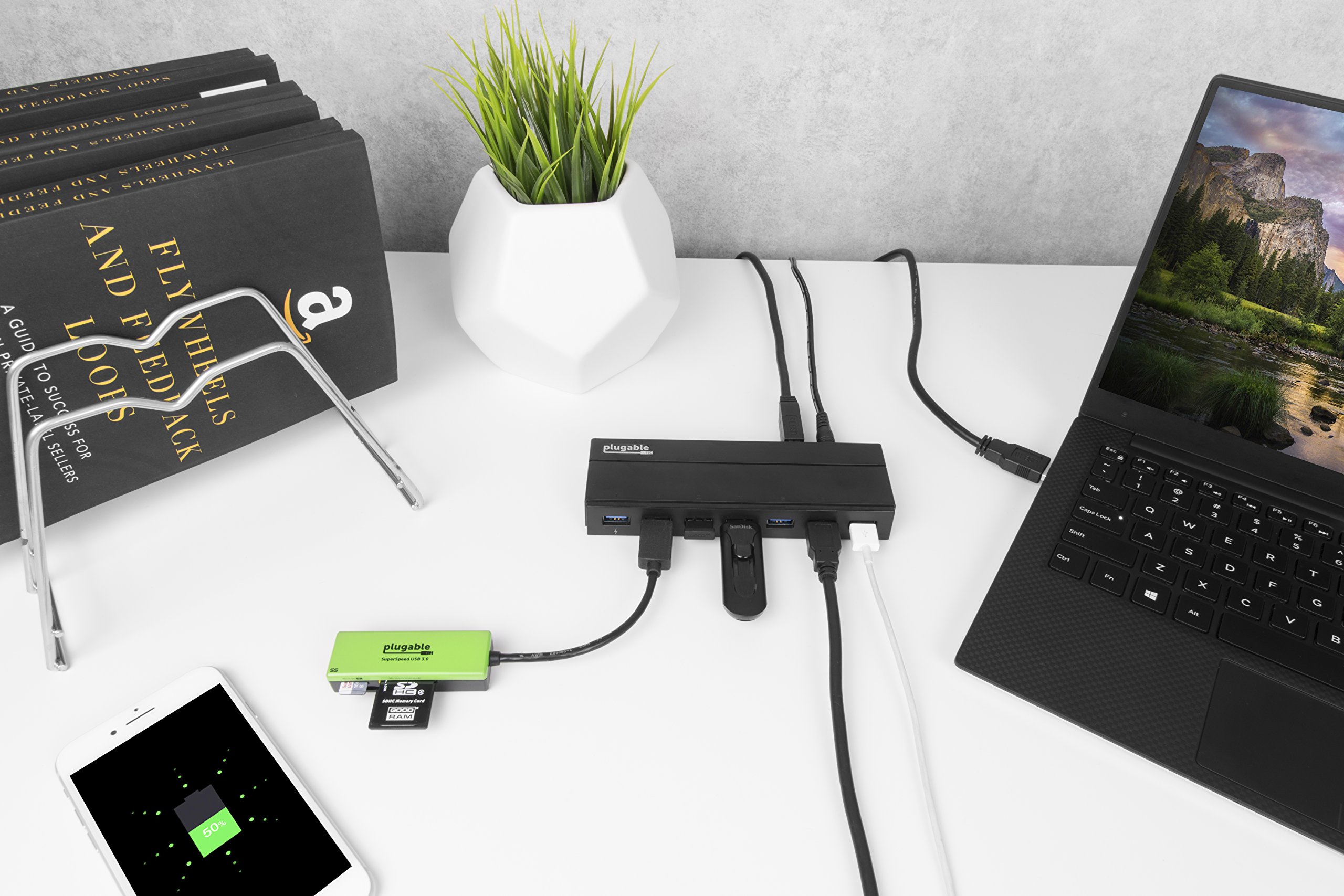 Plugable 7 Port USB 3.0 Hub with 36W Power Adapter by Plugable (Image #2)