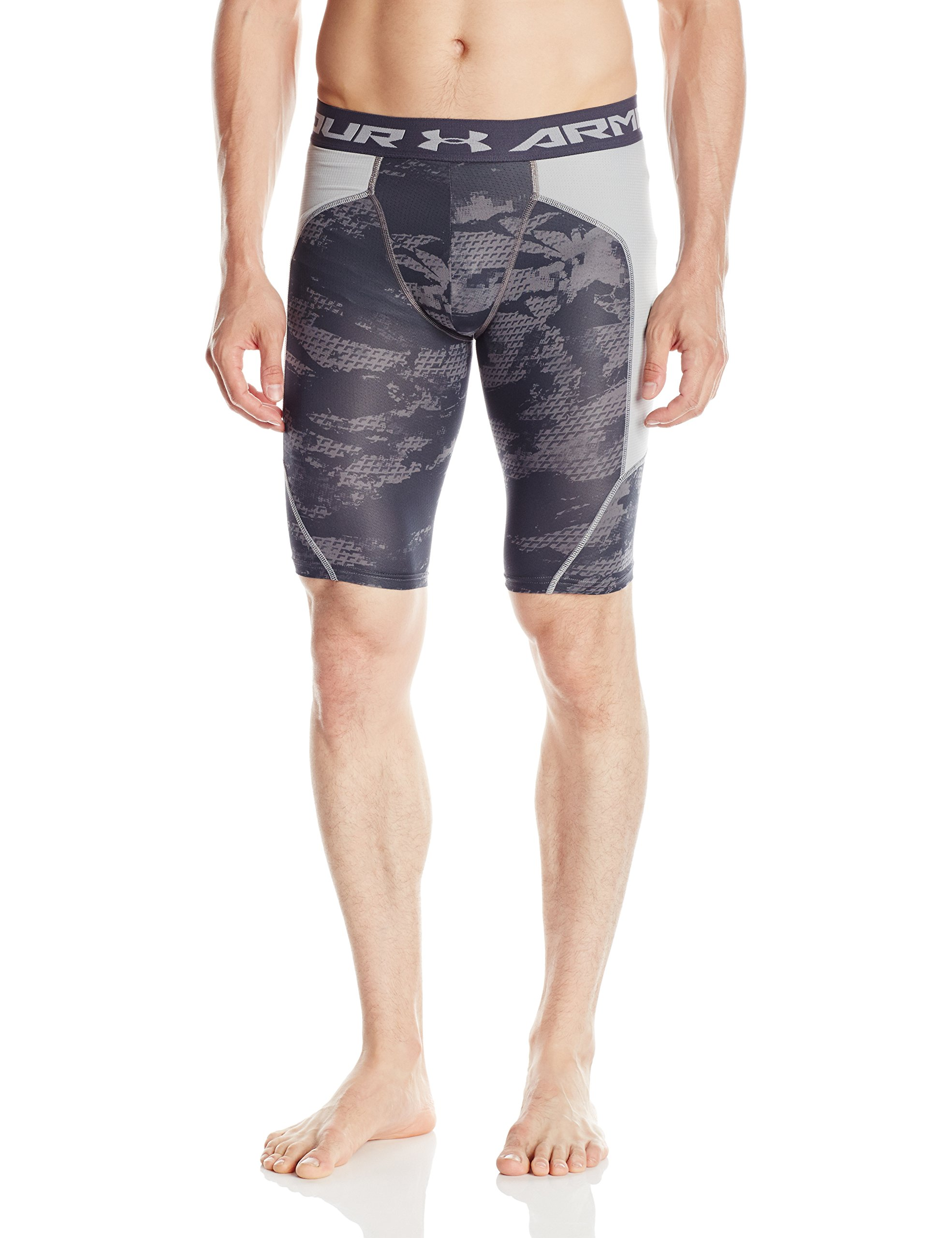 Under Armour Men's Undeniable Printed Baseball Slider, Graphite/Baseball Gray, Large by Under Armour