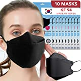 KF94 Black Face Mask 4 Layer Breathable Disposable Masks for Men Women