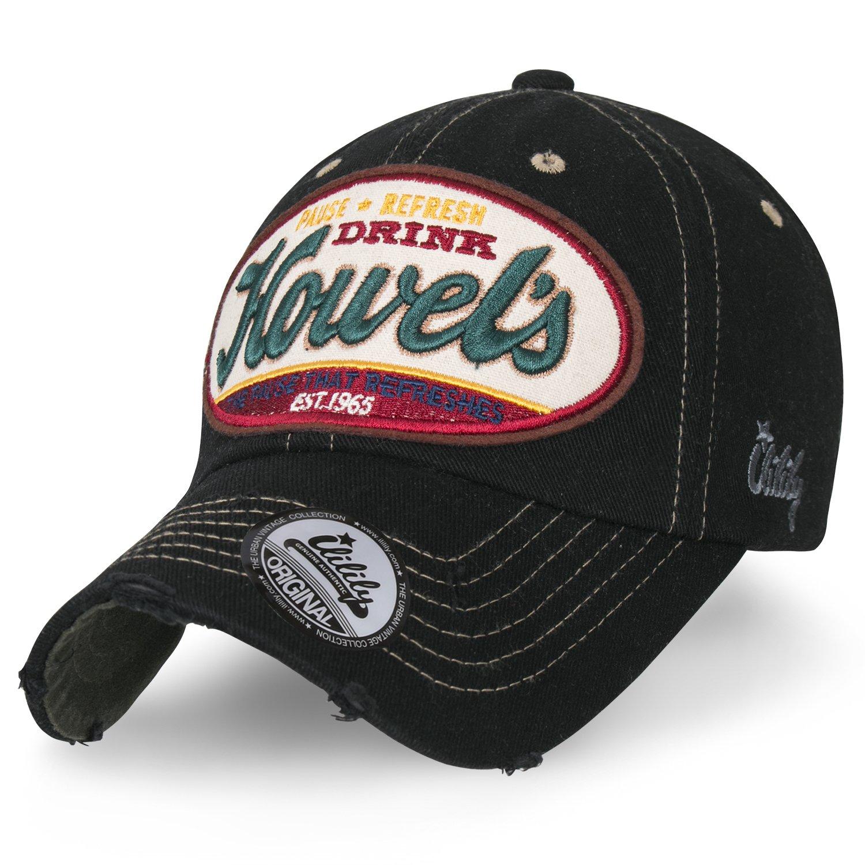 a9b5569d264 Details about ililily Howel s Distressed Vintage Solid Color Cotton  Baseball Cap Trucker Hat