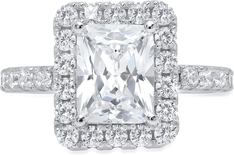 2.00 CTW Princess Cut Halo Engagement Wedding Promise Ring Solid 14K White Gold