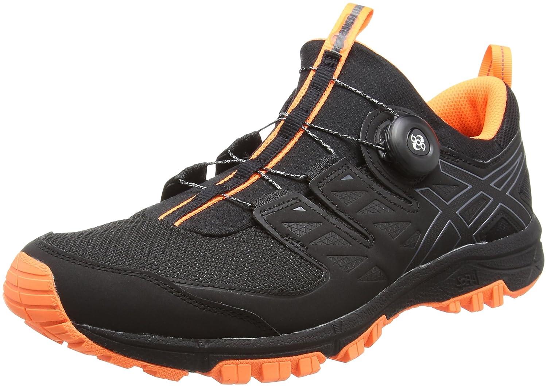 Asics Gel-Fujirado, Zapatillas de Entrenamiento para Hombre 44.5 EU|Negro (Black/Carbon/Hot Orange)