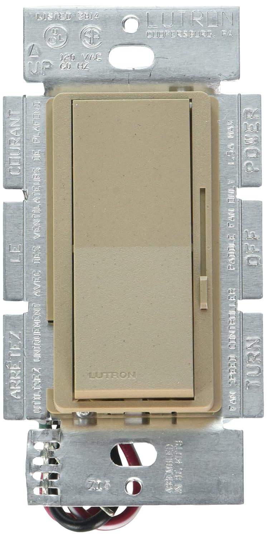 Lutron DVSCFSQ-F-PD Diva 1.5 A 3-Way//Single Pole 3-Speed Fan Control Palladium