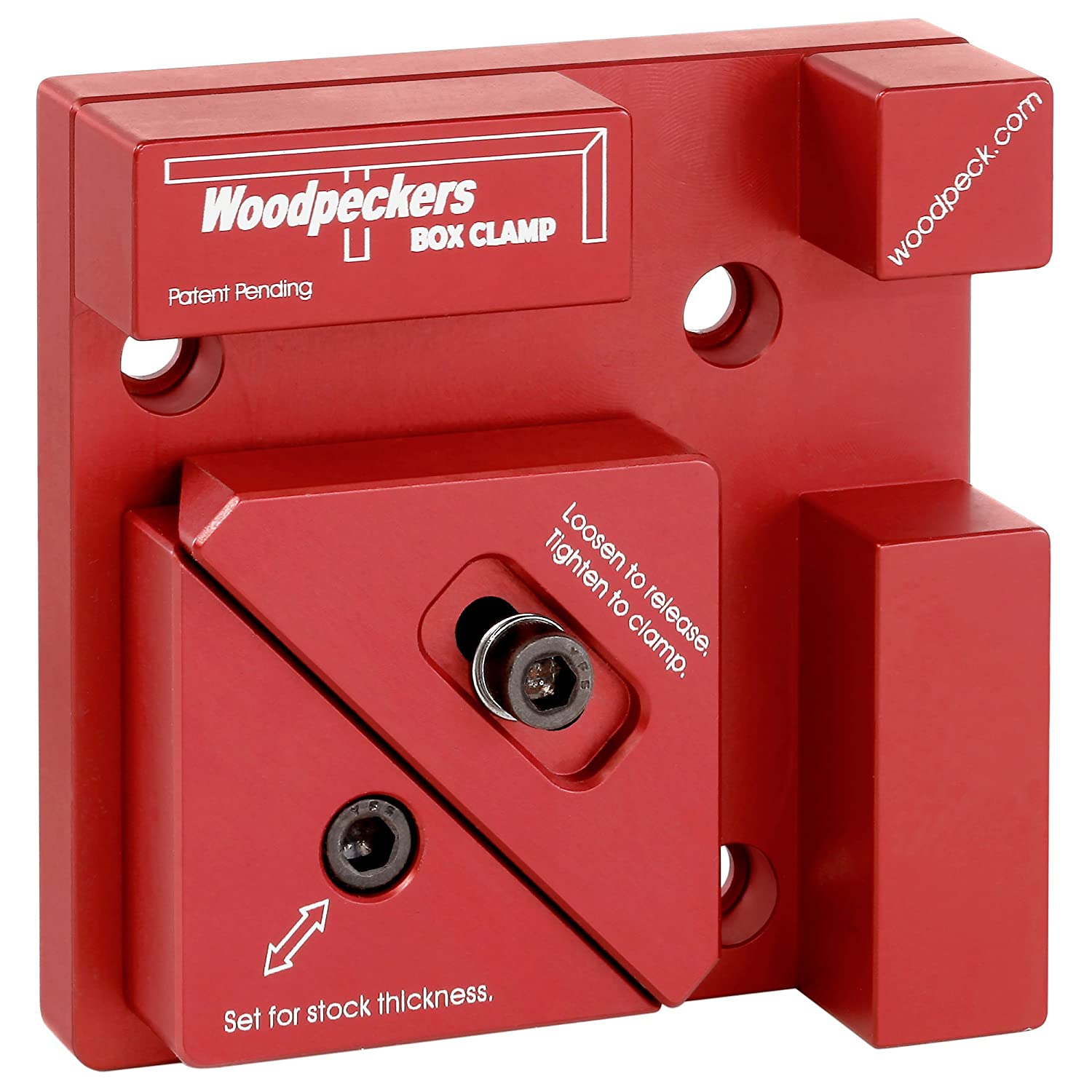 Woodpeckers Precision Woodworking Tools Aluminum Box Clamp Single Clamp Woodpeckers Inc.