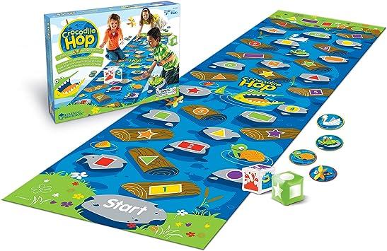 Learning Resources- Set de Actividades de destrezas matemáticas tempranas Crocodile Hop, Color (LER9544): Amazon.es: Juguetes y juegos
