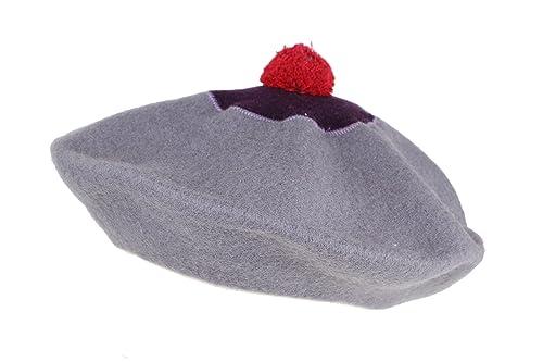 Complit ®, Donna, cappello invernale, basco lana bicolore, pompon, 100%MadeInItaly