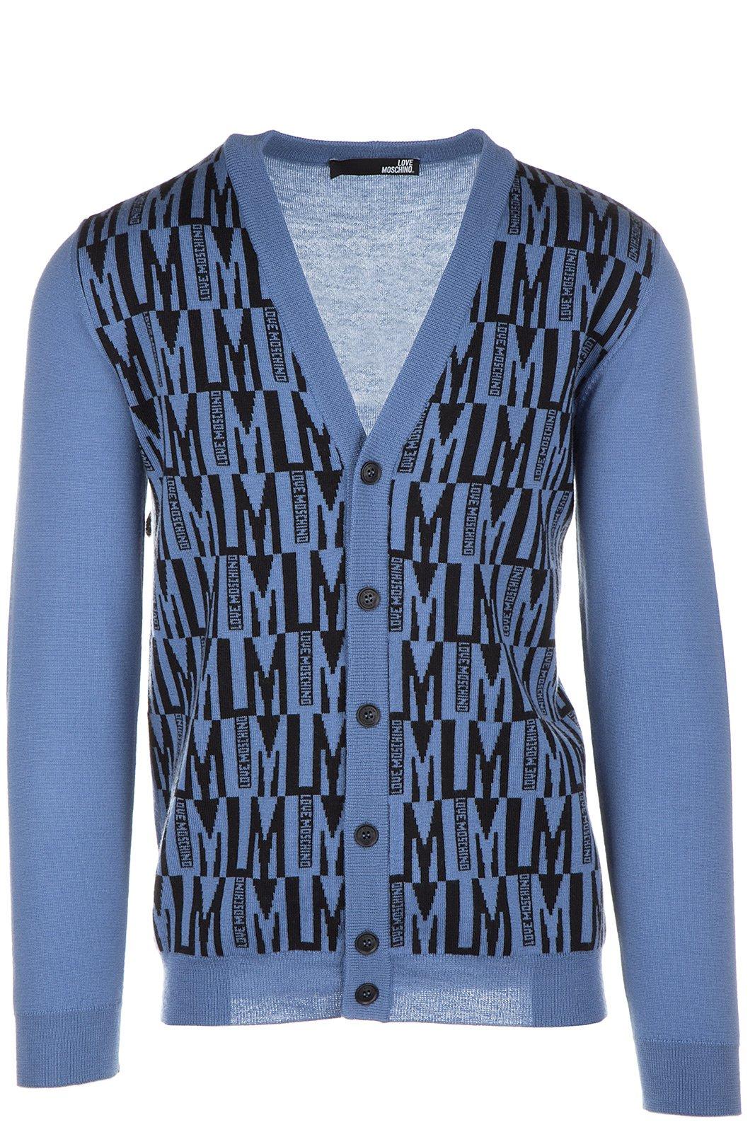 Love Moschino Cardigan Men's Jumper Sweater Pullover Blu US Size M (US M) M S 4J9 00 X 0478 40