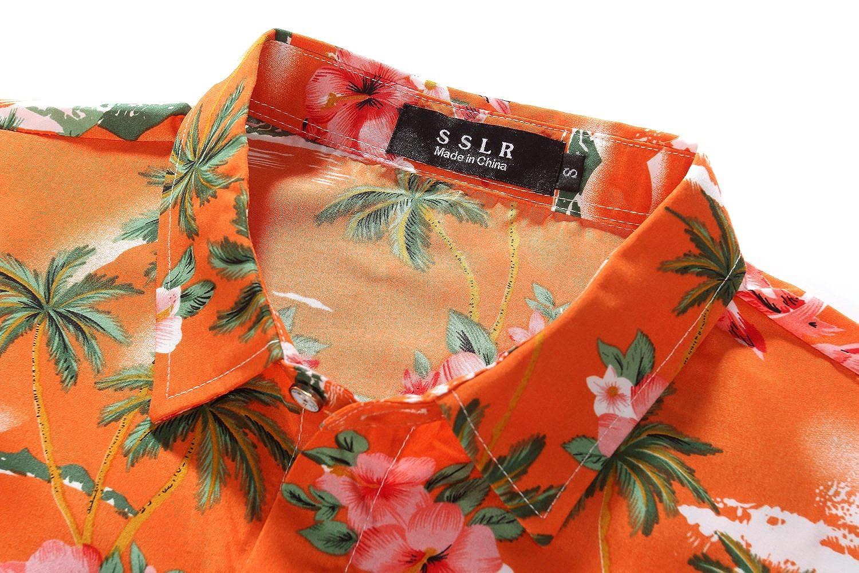 fd003c50da7aa SSLR Camisa Hawaiiana Hombre Casual Estampado de Flamingos y Flores   Amazon.es  Ropa y accesorios
